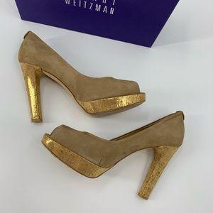 Stuart Weitzman Shoes Size 9.5 Tan Suede Nulille
